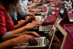 Nuovi giornalisti a lavoro. Foto di Mario Panico per IJF14