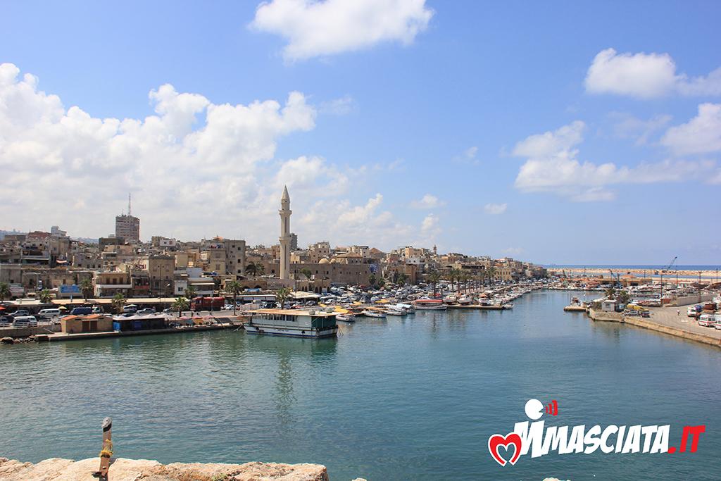 Sidone vista dal Castello del mare