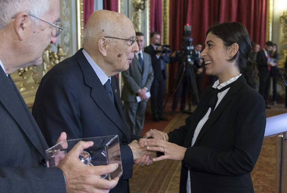 La ricercatrice cosentina Anna Ledonne premiata da Giorgio Napolitano