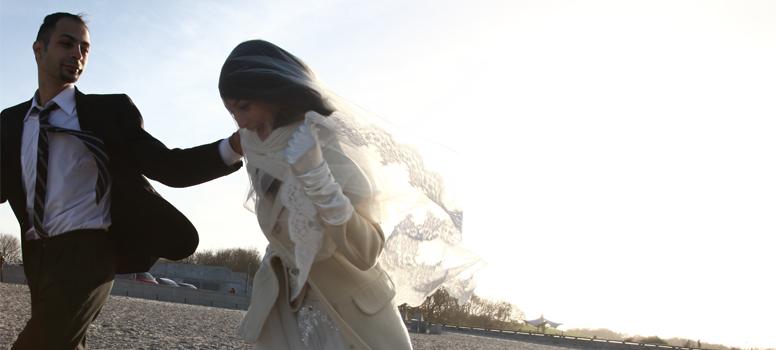 """Una bella sequenza del film """"Io sto con la sposa""""."""
