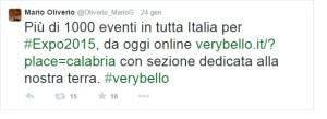 Il tweet del presidente Oliverio