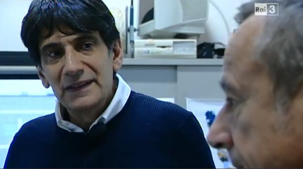 Il geologo Carlo Tansi con il giornalista Riccardo Iacona