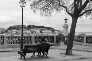 Una veduta di Lisbona