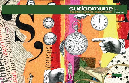 """La copertina del numero Zero della rivista """"Sud Comune"""""""