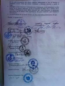 Il documento sottoscritto da tutti i sindaci della presila, dal consigliere regionale Giudiceandrea e dal Comitato Ambientale Presilano