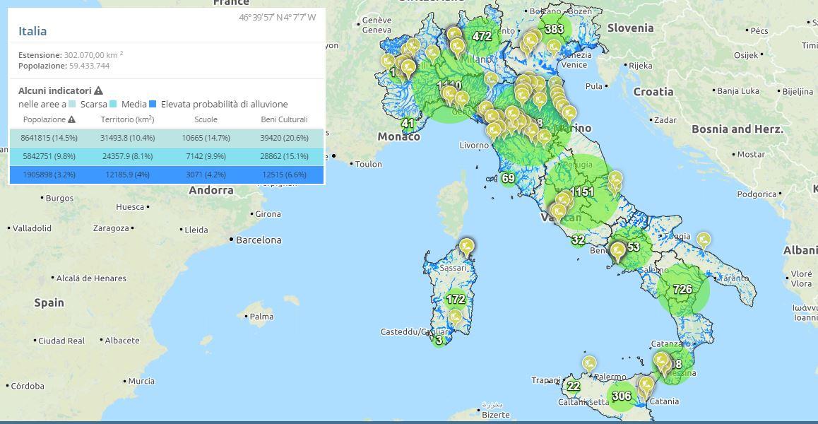 Il piano cantieri nazionale per la mitigazione del rischio idrogeologico