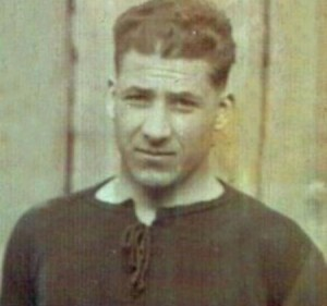Il calciatore torinese Vittorio Staccione in una rara foto dell'epoca