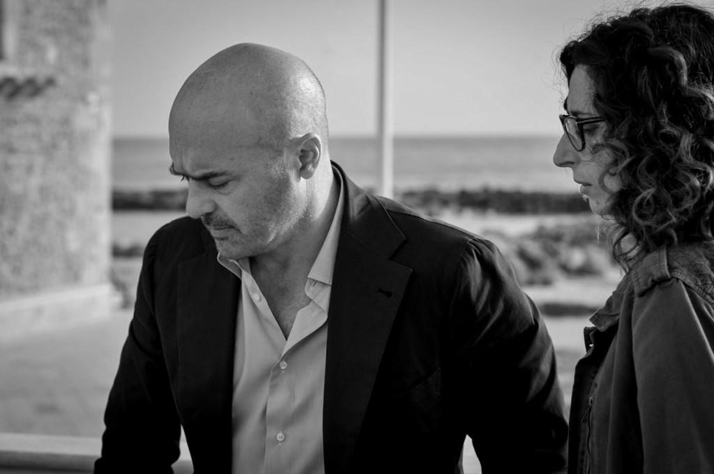 Luca Zingaretti con la Mannino (foto Fabrizio Di Giulio)