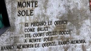 La stele di Monte Sole, che ricorda gli eccidi nazisti in quelle zone