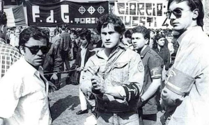 Gianni Alemanno ai tempi del Fronte della gioventù