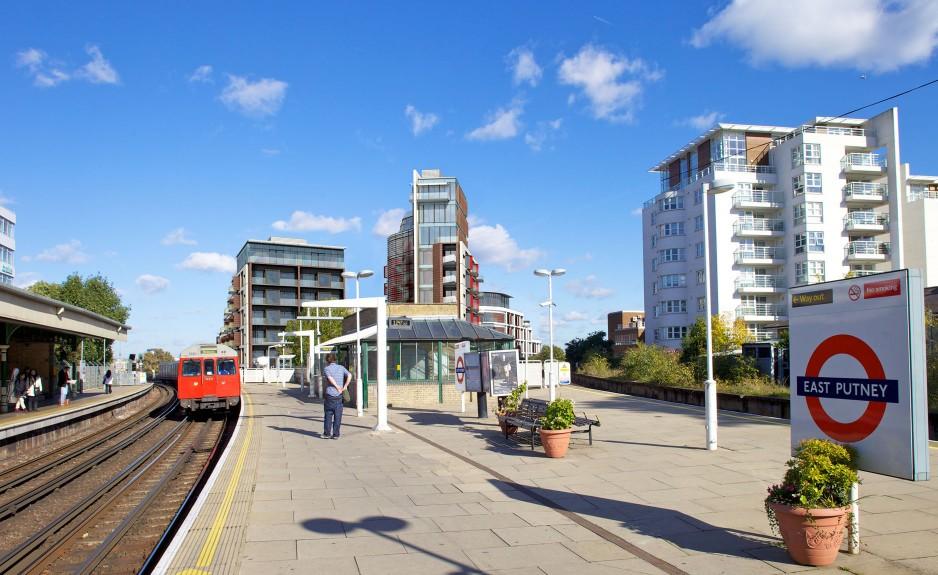 La fermata della metro sull'Upper Richmond