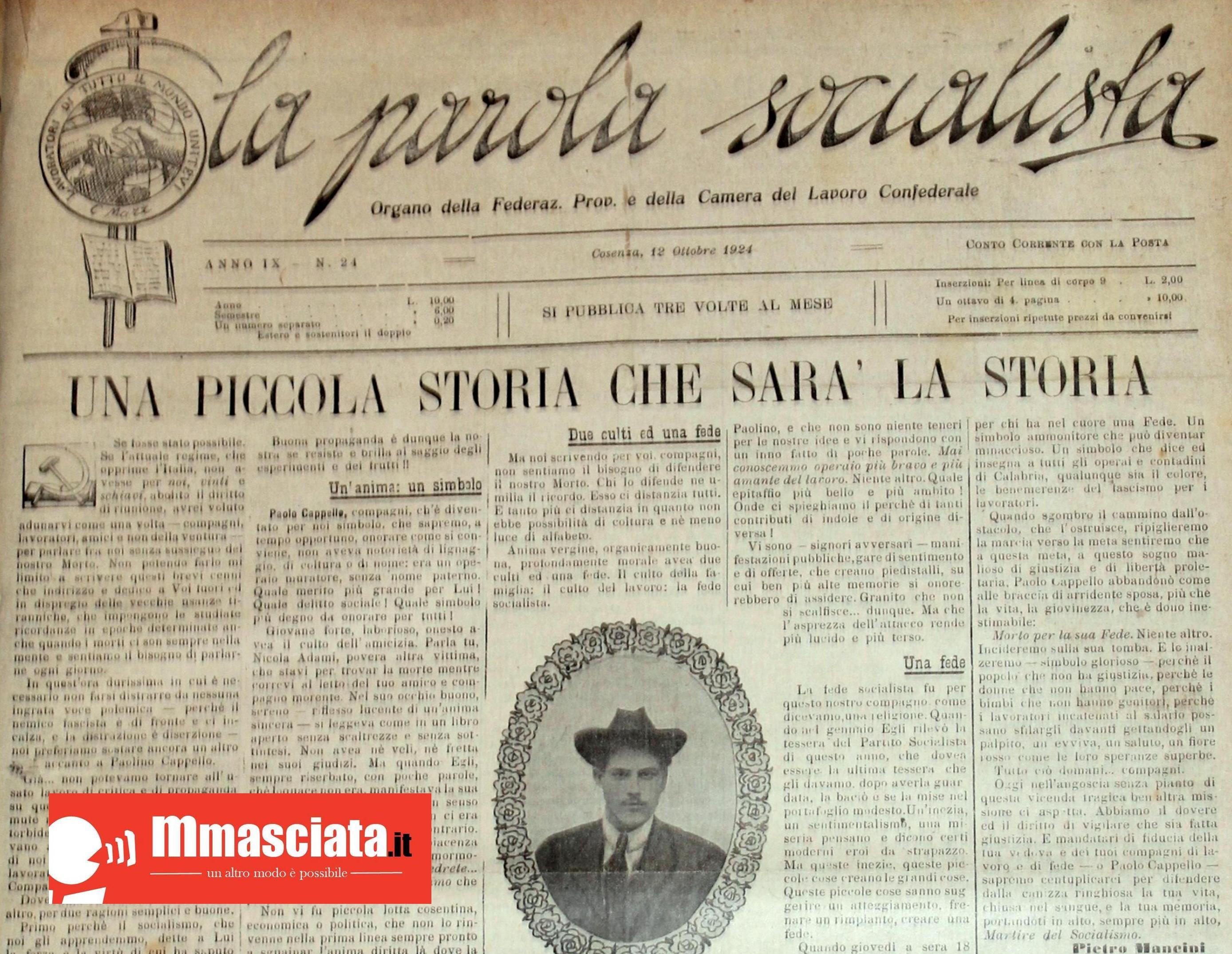 La parola socialista Anno IX 1924 (12 ottobre 1924)
