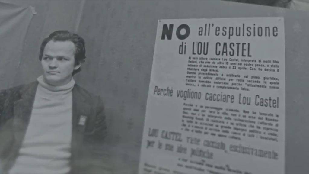Una scena in cui Castel racconta dell'espulsione dall'Italia