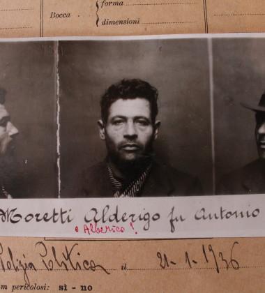 Foto segnaletica di Alberico Moretti nel Casellario Politico Centrale