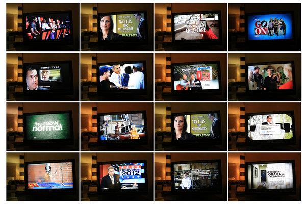 obama romney tv