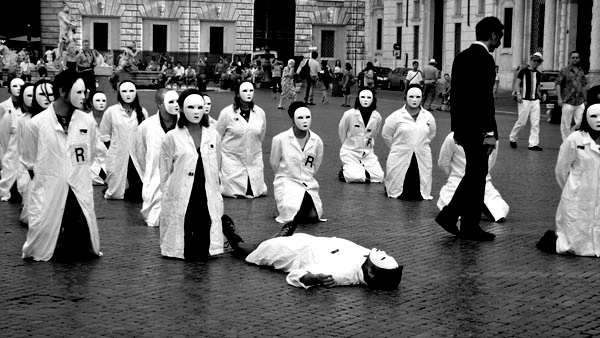 protesta ricercatori precari